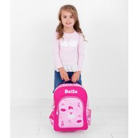 personalised girls backpack ballerina