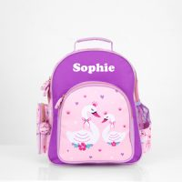 personalised preschool backpack swan