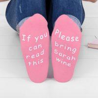 personalised ladies wine socks