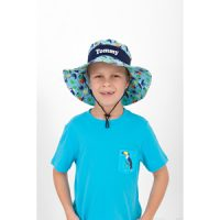 personalised sun hat boys