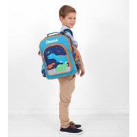 personalised dinosaur backpack boys