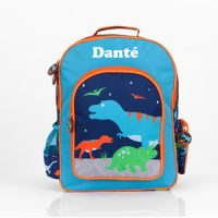 personalised dinosaur boys backpack