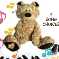 personalised singing teddy bear