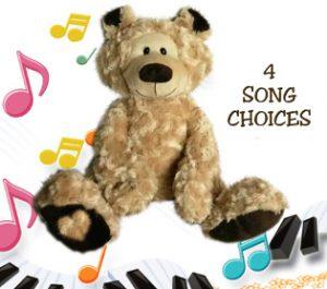 personalised singing teddy bear