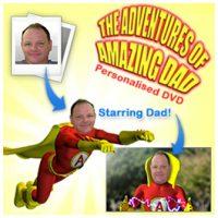 amazing dad personalised dvd