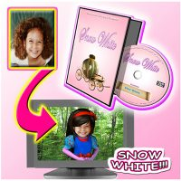 snow white personalised dvd