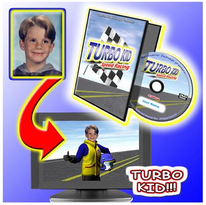 Personalised Turbo Kid Photo DVD