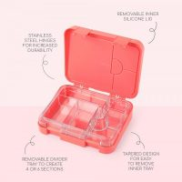 girls pink bento box
