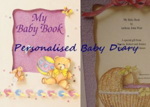 personalised baby diary