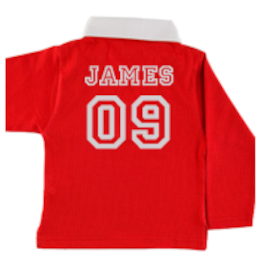 Personalised Kids Rugby Jersey